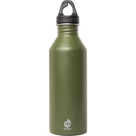 MIZU M8 Bottle with Black Loop Cap 800ml olive